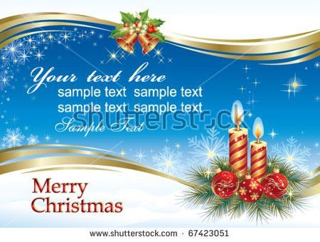 Blank Christmas Greeting Card Stock Images, Royalty-Free Images ...