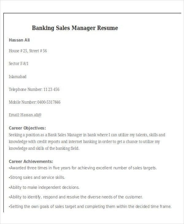 banking sales resume retail banking sales resume branch manager