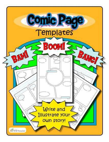 Comic Strip Template for Elementary School Writing Activities