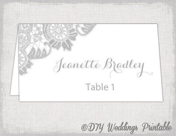 Best 25+ Place card template ideas on Pinterest   Diy wedding ...