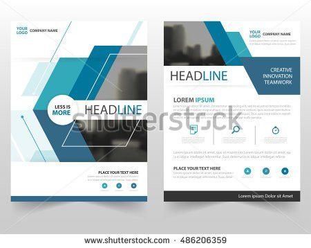 Blue Vector Annual Report Leaflet Brochure Stock Vector 410286223 ...