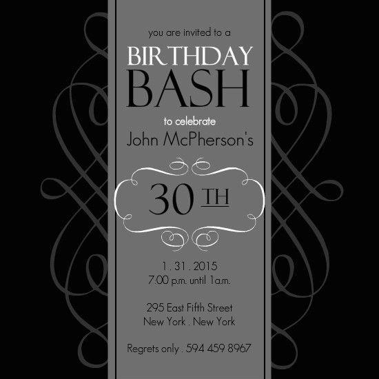 28+ [ 30th Invite Template ] | 30th Birthday Invitations Template ...