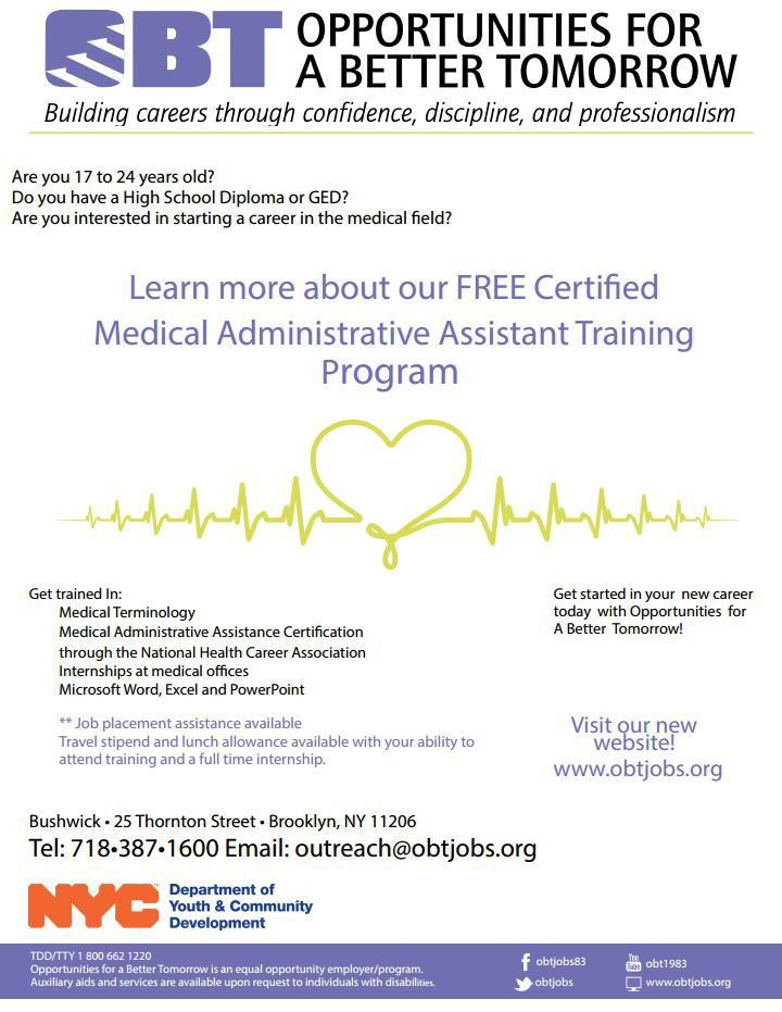 OBT Free Medical Administrative Assistant Training Program | New ...