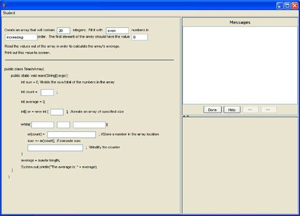 Cognitive Tutor Authoring Tools: Java Tutor from Summer School 2004
