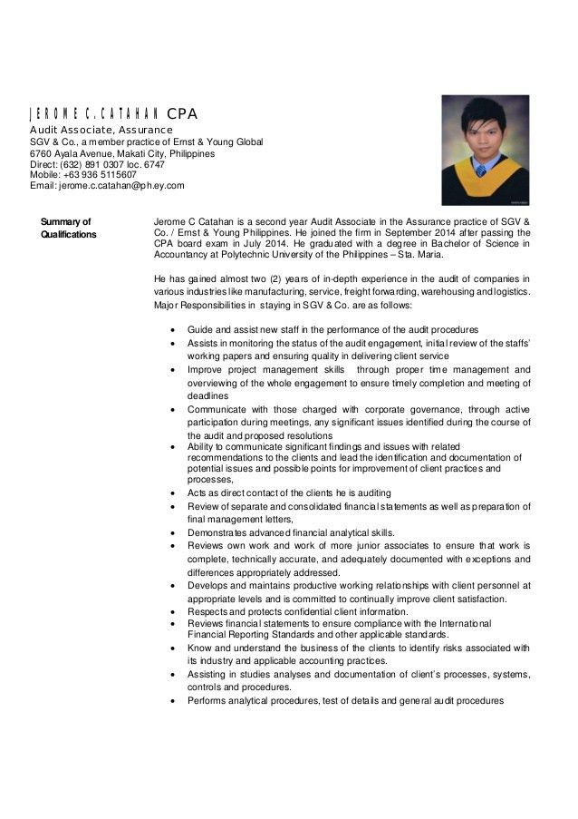 Resume_Jerome Catahan 2016