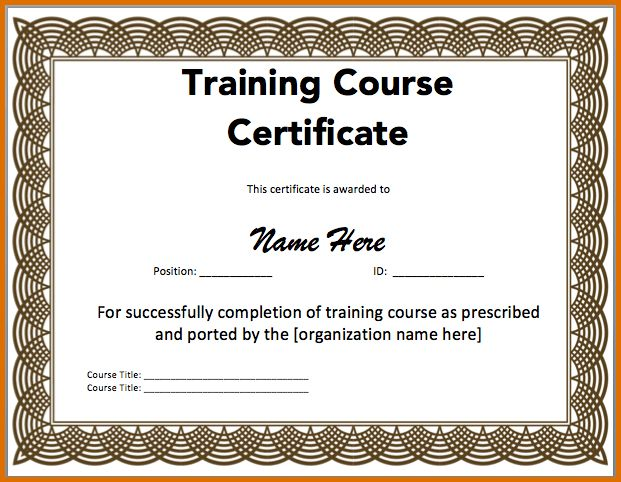 certificate of training templateReference Letters Words ...
