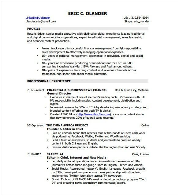 Digital Resume Template – 8+ Free Word, Excel, PDF Format Download ...