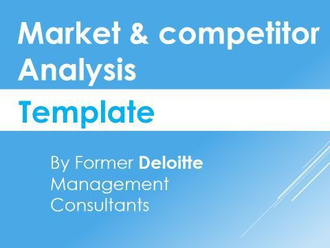 Competitor Analysis Template | Competitor analysis, Business and Reuse