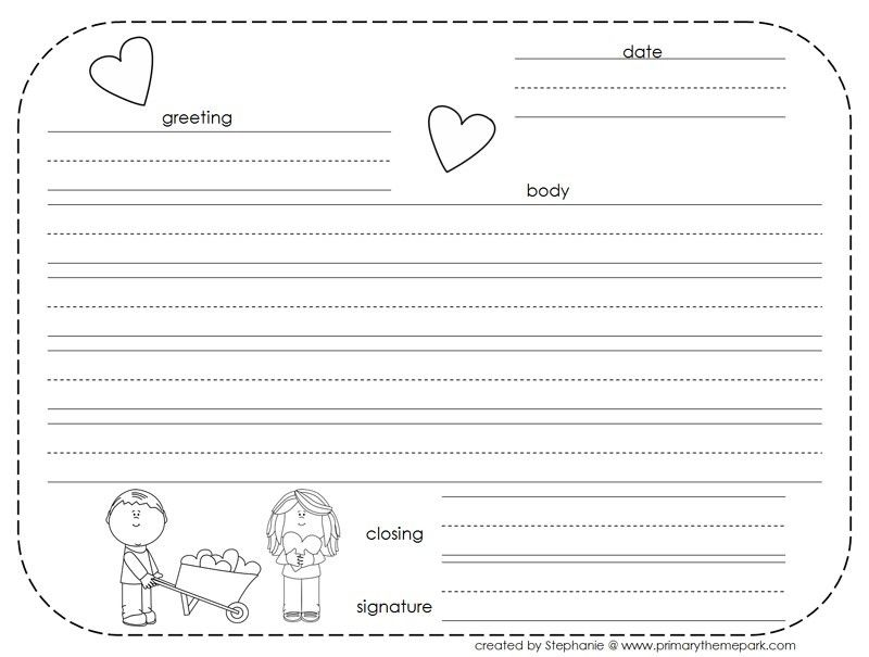 How to Write a Friendly Letter FREE Printables | Friendly letter ...