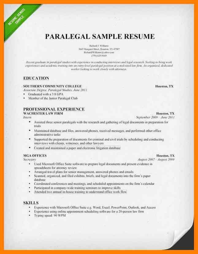 Sample Paralegal Resumes. paralegal resume samples visualcv resume ...