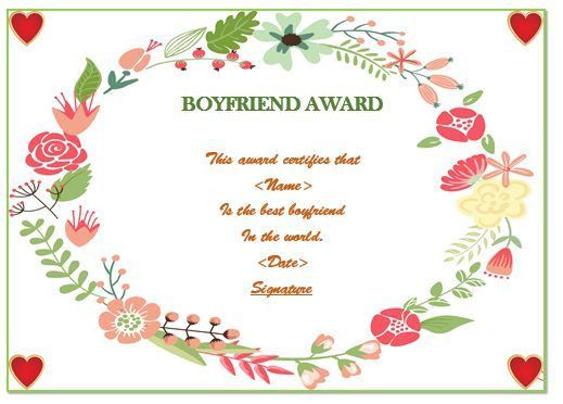 23 Best Boyfriend Certificates That Can Make Your Loved Ones ...