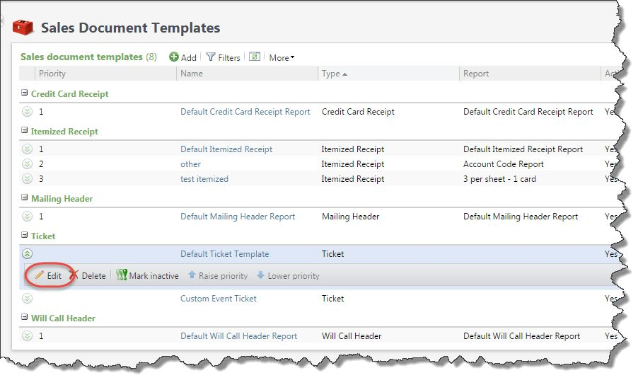 Customize Ticket Document Templates