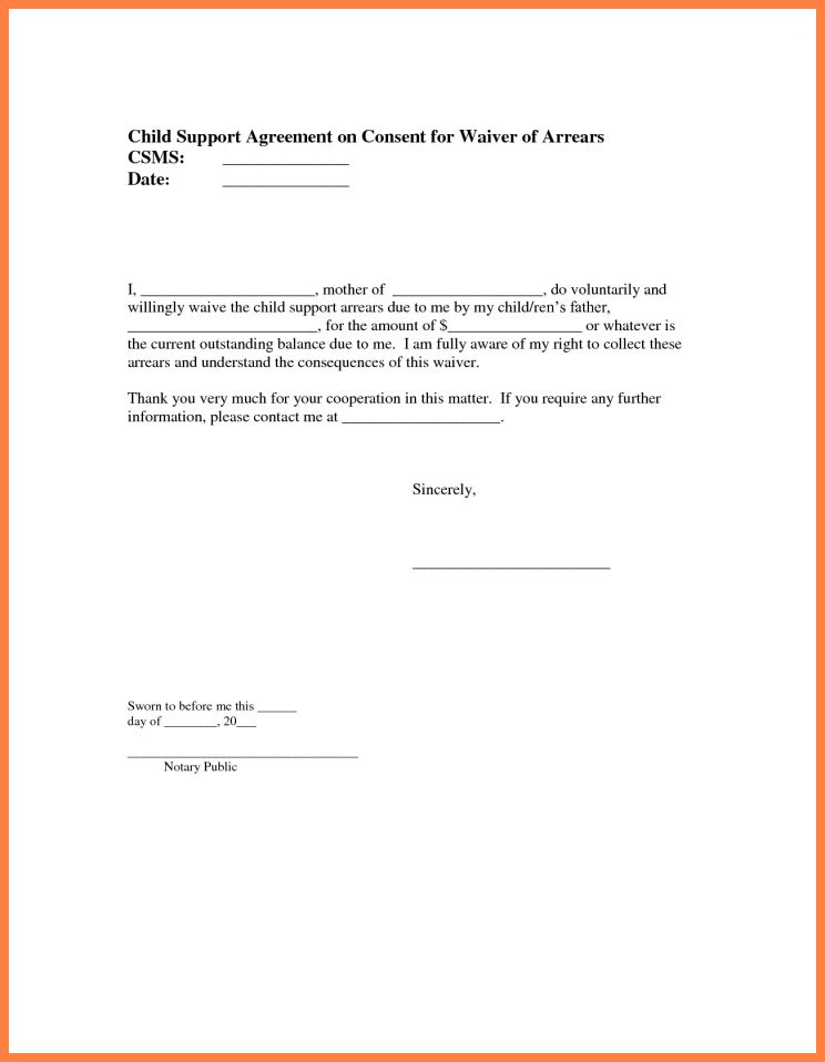child support parent agreement template. child support agreement ...