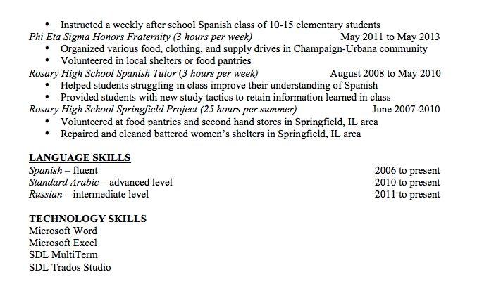 Skills Section On Resume - CV Resume Ideas