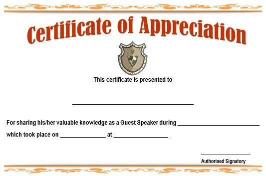 Examples of certificate of recognition sample certificate of 12 genuine samples of certificate of appreciation for guest yadclub Images
