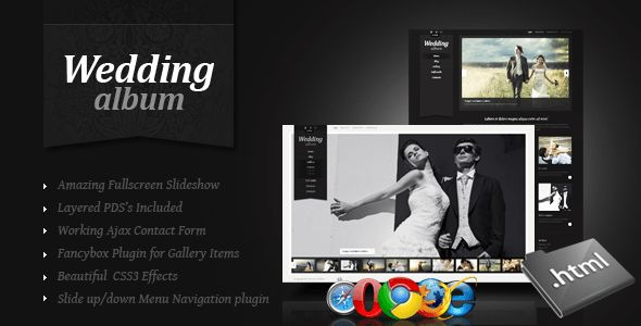 Wedding Album Premium xHTML/CSS Template by ThemeMakers | ThemeForest