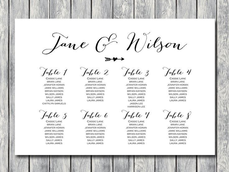 46 best Wedding seating charts images on Pinterest | Wedding ...