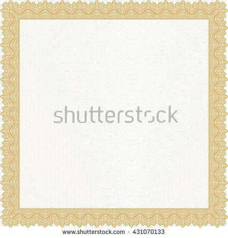 Certificate Border Design Stock Illustration 106985045 - Shutterstock