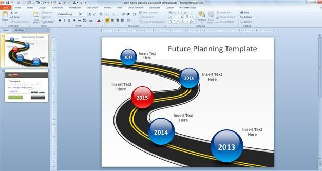 Free Future Planning PowerPoint Template - Free PowerPoint ...