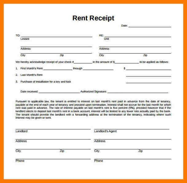 4+ rent receipt pdf | park-attendant
