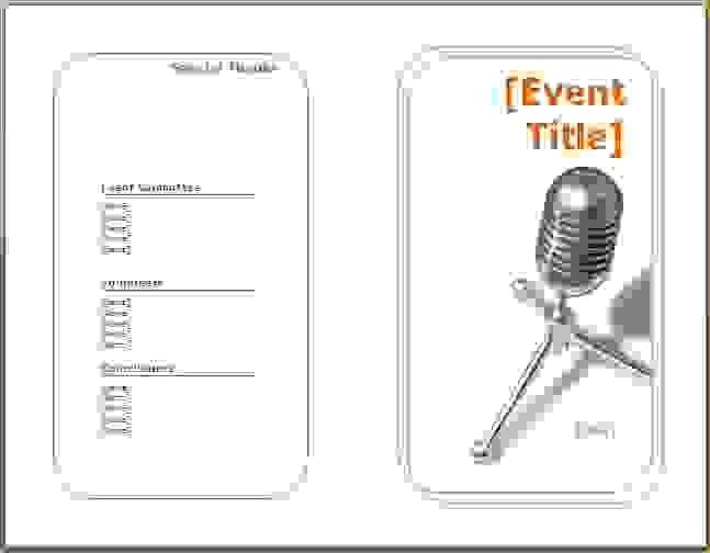 8 program template wordAgenda Template Sample | Agenda Template Sample