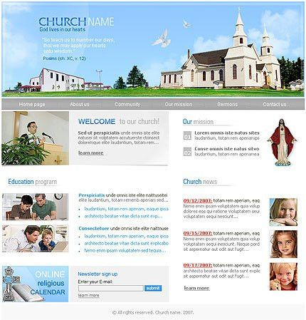 FREE Church template !!! | Free Website Templates