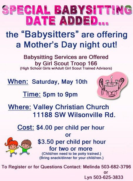 babysitting flyers - Bing Images | Girl scout cadette | Pinterest ...