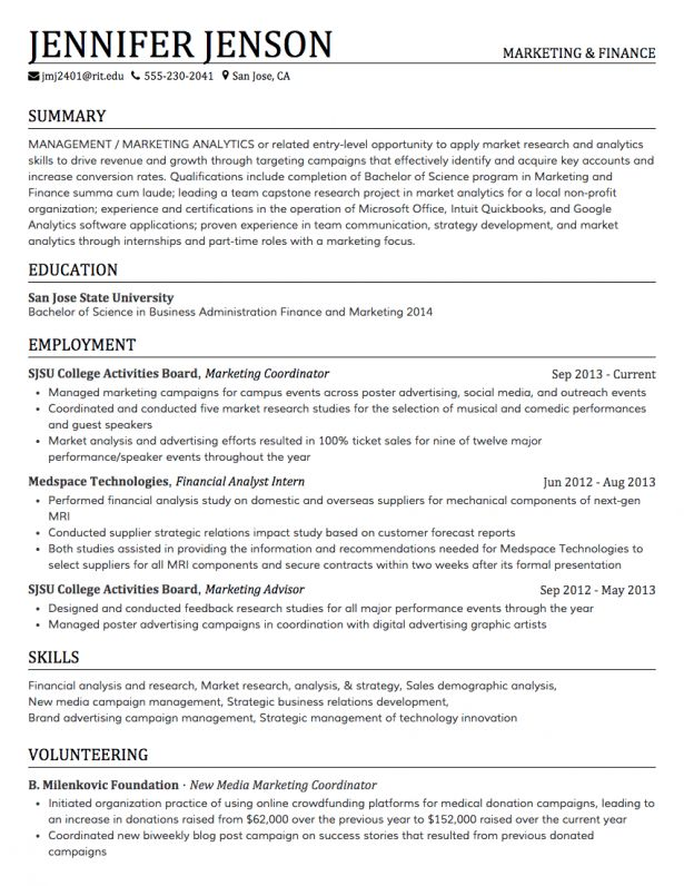 Resume : Assistant Marketing Manager Toronto How To Make Biodata ...