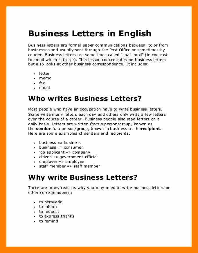 7+ business letter in english | appeal leter