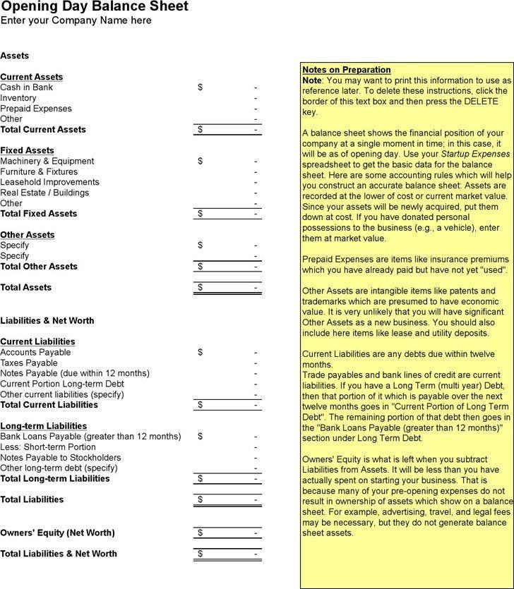 Balance Sheet Template   Download Free & Premium Templates, Forms ...