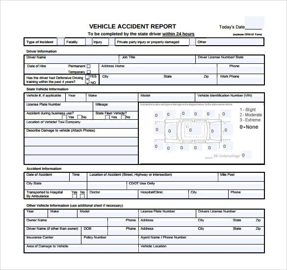 Sample Accident Report - 6+ Documents in Word, PDF