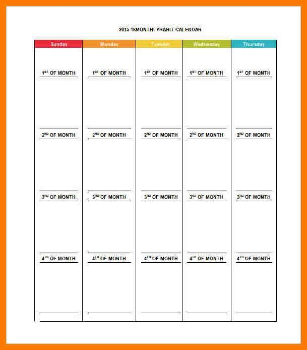7+ monthly schedule template | park-attendant