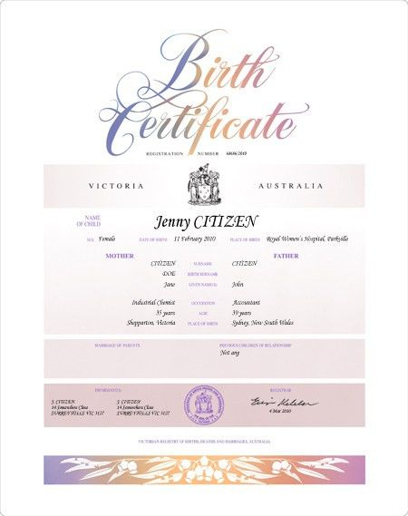 Get a birth certificate | Births Deaths and Marriages Victoria