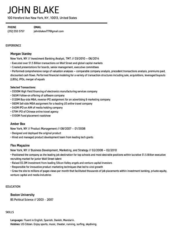 My Resume Builder - Resume Example