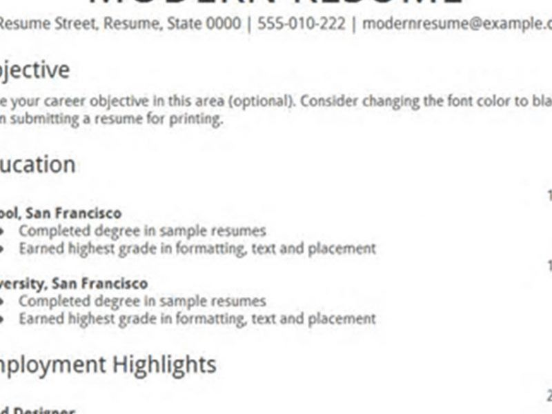 Resume Templates Google. Totally Free Resume Maker Google Drive ...