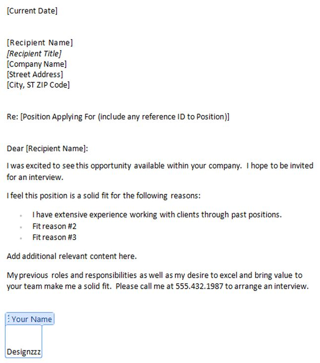 11 Impactive Cover Letter Templates (Free Download)