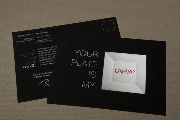 Sleek Personal Chef Postcard Template | Inkd
