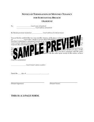 Alberta Landlord and Tenant Notice Forms | Legal Forms and ...
