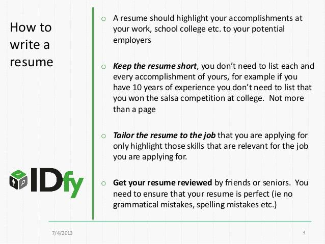 How to write a resume? (resume format 101 for freshers and experience…