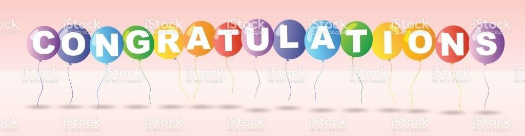 Congratulations Card Template With Colorful Balloons stock vector ...