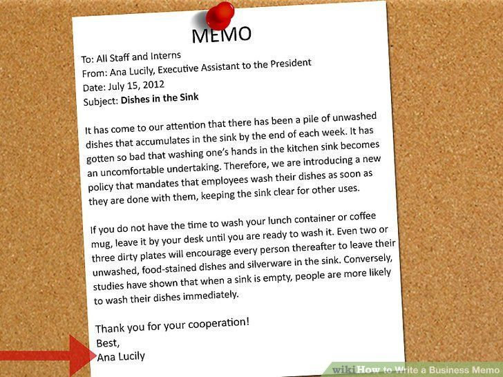 The Best Way to Write a Business Memo - wikiHow