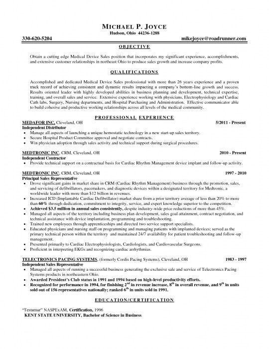 resume format for medical representative download sample resume