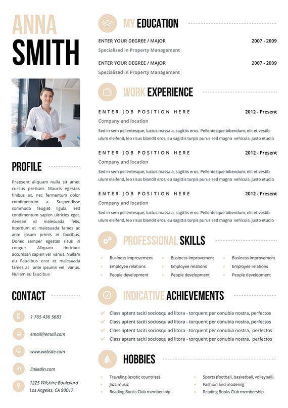 374 best Curriculum Vitae images on Pinterest | Resume design ...