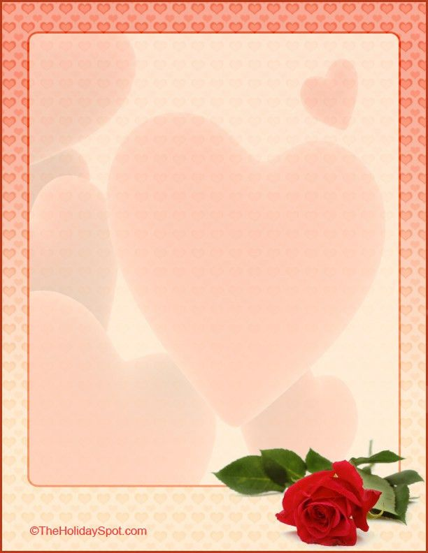 Free Love and Valentines Letterheads to print