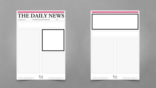 9 Best Images of Newspaper Template PDF - Mother's Day Printable ...