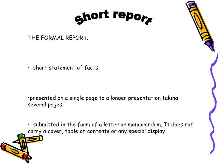 Short Report Presentation