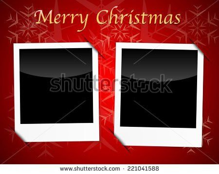 Christmas Card Photo Template Stock Images, Royalty-Free Images ...