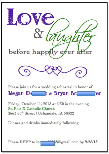 rehearsal dinner invitations templates free - Hallo