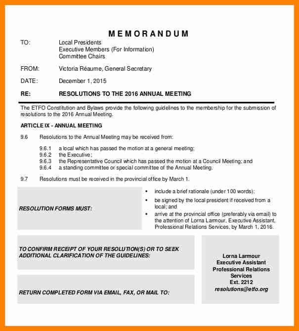 Meeting Memo Template. Staff Meeting Email Memo Document Free ...