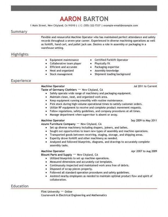 cnc operator resume 26042017. cnc operator resume cnc machinist ...